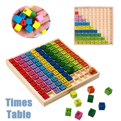 Educational Wooden Times Table  Mathematics Learning Toys Blocks