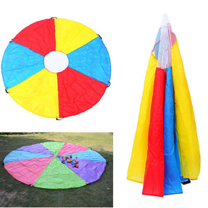 Kids Play Multi-Color Rainbow Parachute Outdoor Game