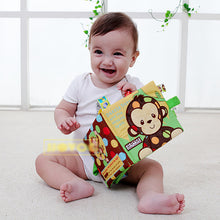 Load image into Gallery viewer, Infant Cloth Book Cartoon Animal Pattern  Activity  Cloth