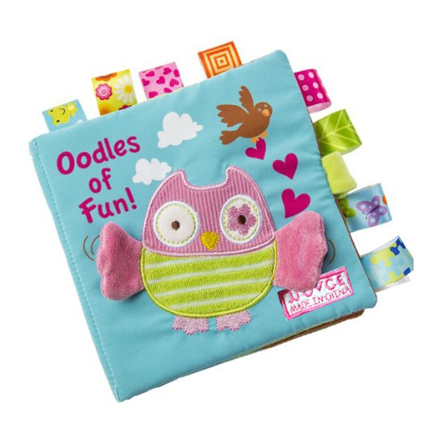 Infant Cloth Book Cartoon Animal Pattern  Activity  Cloth
