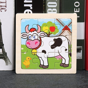 2020 Newest 3D Wooden Puzzle Cartoon  17 Styles