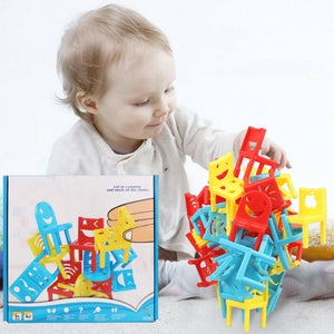 18pcs Balance Chairs Montessori Learning Toys  Developing Antistress