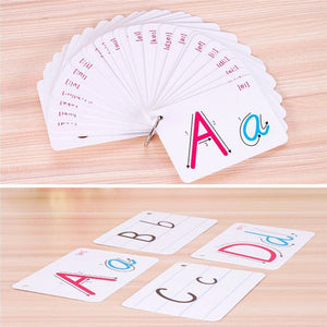 Kids Montessori Early Development Learning 26 Letter Cards