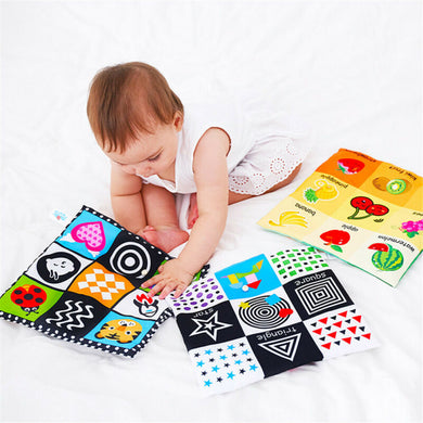 2020 Baby colorful Cloth Book Cartoon Animal Learning