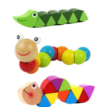 Load image into Gallery viewer, Colorful Wooden Worm Puzzles Learning  Kids Development