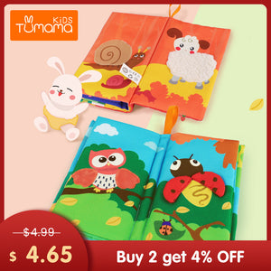 TUMAMA KIDS Baby Cloth Books Early Learning Educational