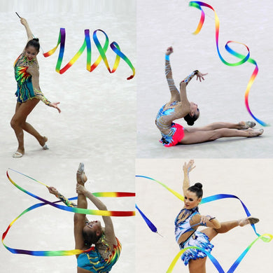 4M Dance Ribbon Gym Rhythmic Gymnastics Art Gymnastic Ballet Streamer