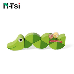 Colorful Wooden Worm Puzzles Didactic Baby Development  Montessori t