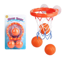 Load image into Gallery viewer, Basketball Hoop Bath Toy on Suckers Set for Child Kid Outdoor Game Development of Boy Indoor Sport Tool Kit for Baby
