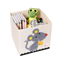 Load image into Gallery viewer, New 13 inch Cartoon Animal Cube Storage Box Folding Washed Oxford Cloth Fabric Storage Bins For Toys Organizers Storage Basket