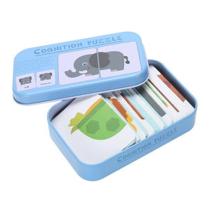 Cognition Puzzle Toys Toddler Iron Box Cards