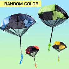 Load image into Gallery viewer, Funny Design Kids Hand Throwing Parachute Toy For Children Educational Parachute With Figure Soldier Outdoor Play Games Sports