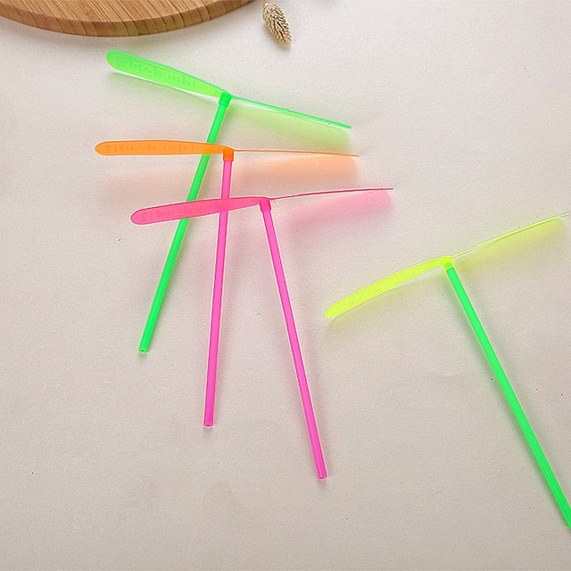 12pcs/lot Plastic dragonfly mini rotor helicopter