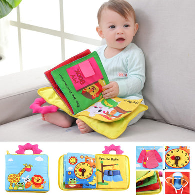 12 Pages  Baby Early Development Cloth Cartoon Books