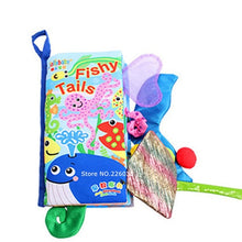 Load image into Gallery viewer, Infant  Early Development Cloth Books  Animal Tails Dinosaur