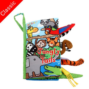 Infant  Early Development Cloth Books  Animal Tails Dinosaur