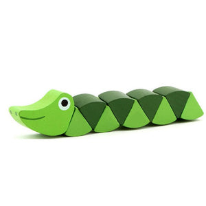 Colorful Wooden Worm Puzzles  Learning l Didactic Baby Development