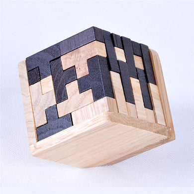 3D Wooden Puzzle Early Learning Educational  IQ Brain