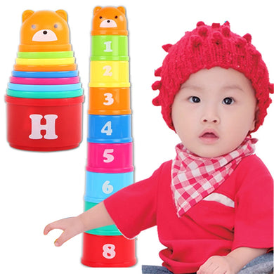 9 Pcs Baby Educational Toys 6 Months Bear Figures