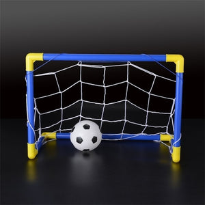 Folding Mini Football Soccer Goal Post Net Set