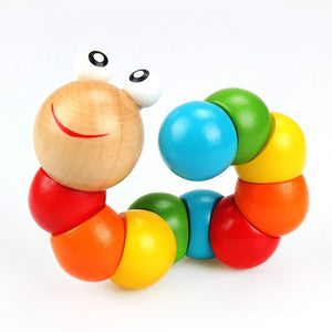 Colorful Wooden Worm Puzzles  Didactic Development Montessori
