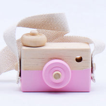 Load image into Gallery viewer, Cute Kawaii Natural Cartoon Wooden Mini Camera