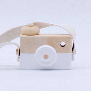 Cute Kawaii Natural Cartoon Wooden Mini Camera