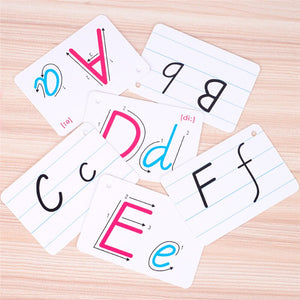 Montessori Early Development Learning 26 Letter English Flash