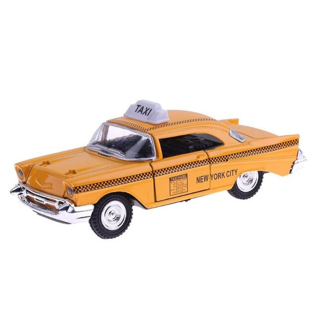 4 Types 1:32 Mini Alloy Taxi Car  Montessori