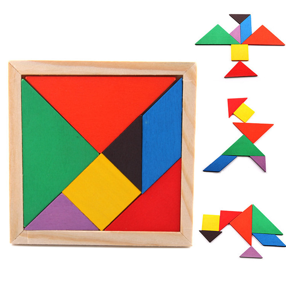 Children Mental Development Tangram Wooden Jigsaw Puzzle