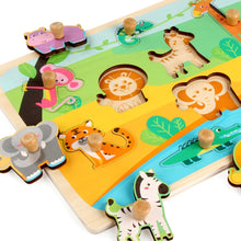Load image into Gallery viewer, Wooden Peg Puzzles Home Preschool Learning  Development