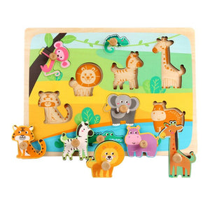 Wooden Peg Puzzles Home Preschool Learning  Development
