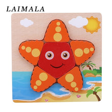 Load image into Gallery viewer, Cartoon Animal Wooden Puzzle Jigsaw Wooden  Children Intelligence