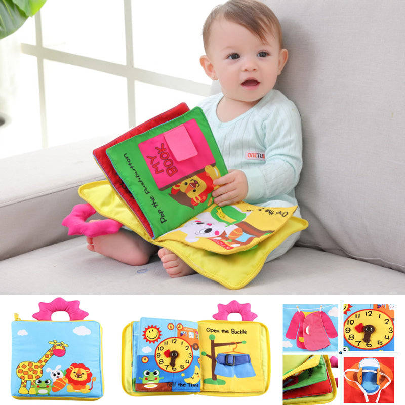 12 Pages Educational  Infant Kids Early Development Cloth