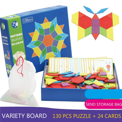 Jigsaw Puzzles Board Montessori Educational Wooden Colorful  Developing
