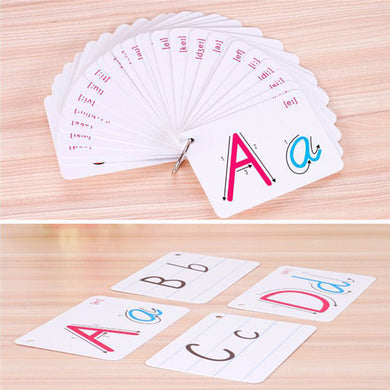 26 Letter  Flash Card Handwritten Montessori Early Development
