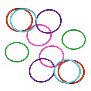 10 Pcs Plastic Toss Rings Multi-color Outdoor Game