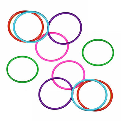 10 Pcs Plastic Toss Rings Multicolor  Outdoor Games