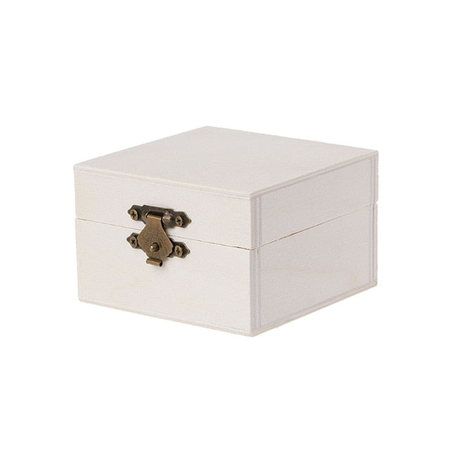 2019 NEW Natural Wood Square Jewelry Storage Box Base Crafts Case Role X Watch Men Art Decor Organizador Kids DIY Toys Organizer