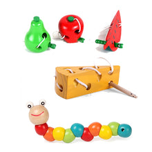 Load image into Gallery viewer, Montessori Colorful Wooden  Puzzles Kids Learning Educational  Development