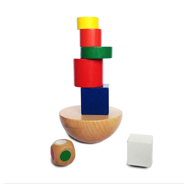 Montessori Colorful Wooden  Puzzles Kids Learning Educational  Development