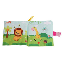 Load image into Gallery viewer, Infant  Early Development Cognitive Learning Animal Cloth Books