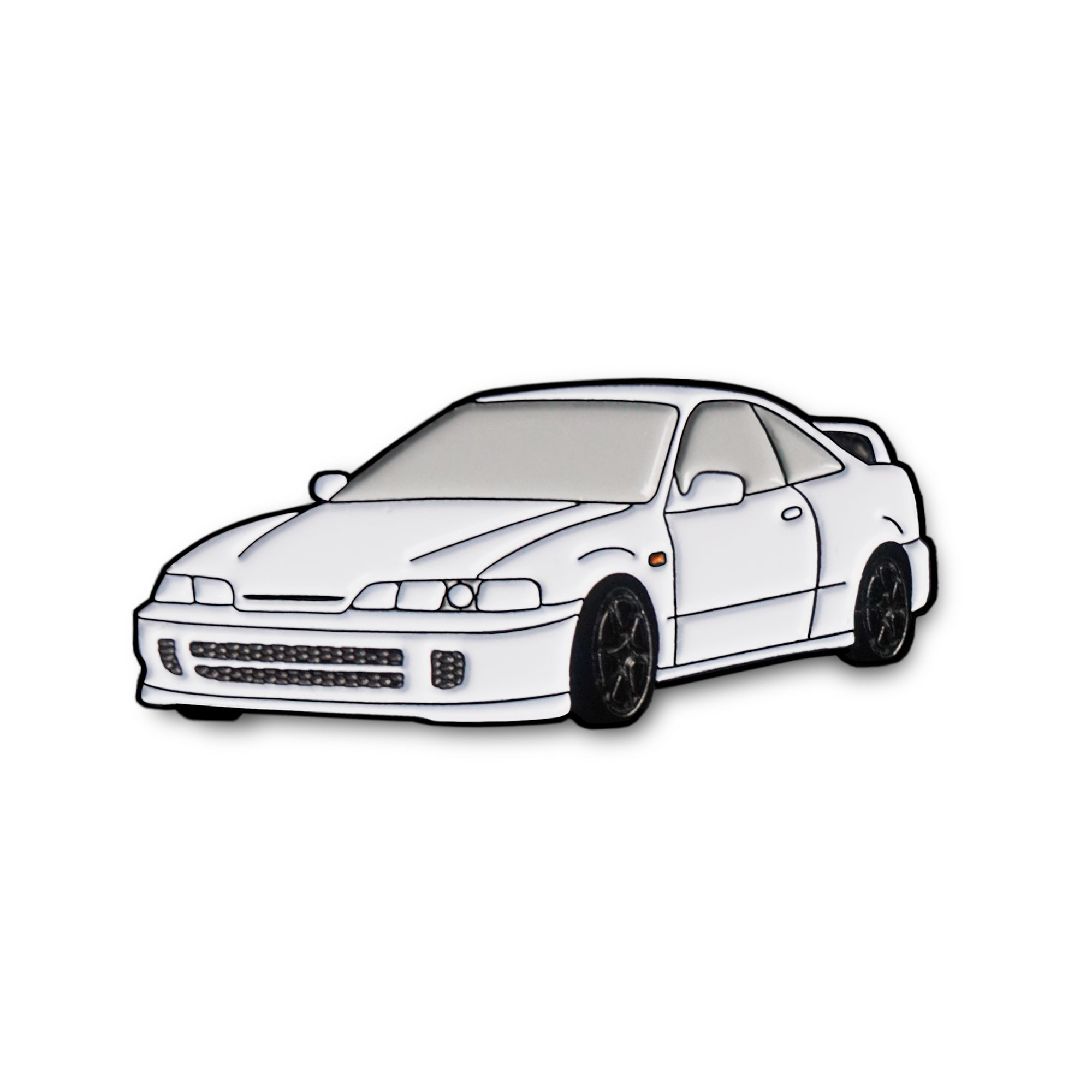 Honda Acura Integra Type R Championship White Car Lapel Enamel Pin On Point Pins