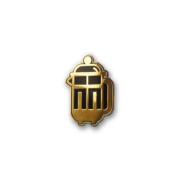 Coffee Collection: French Press Coffee Maker Lapel Enamel Pin