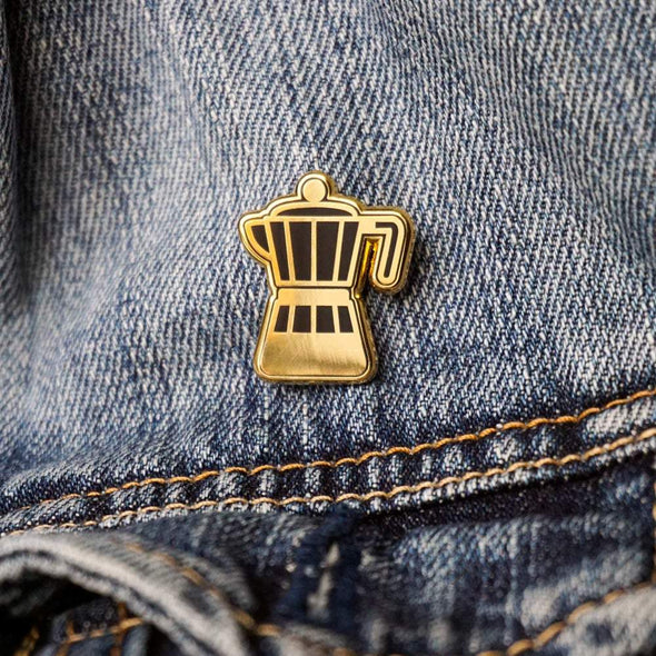 Coffee Collection: Stove Top Coffee Maker Lapel Enamel Pin