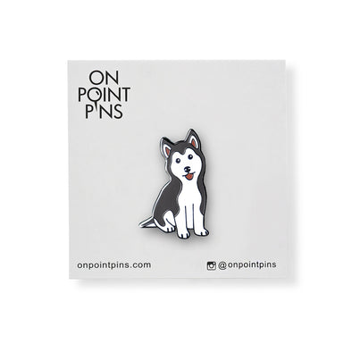 "Husky Puppy ""Bad Dog"" Lapel Enamel Pin"