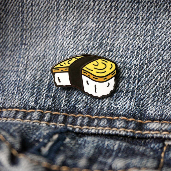 Japan: Egg (Tamago) Nigiri Sushi Lapel Enamel Pin