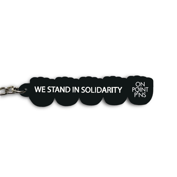'Stand Together' Raised Fists Emoji Soft PVC Keychain | Black Lives Matter Charity Fundraiser