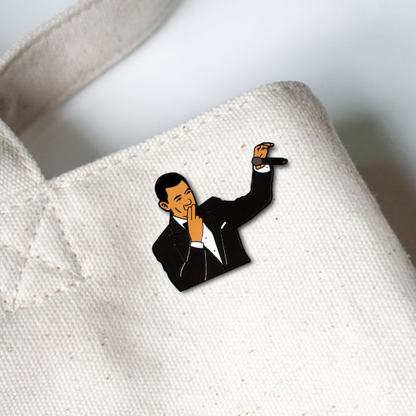 President Barack Obama Mic Drop Meme Lapel Enamel Pin