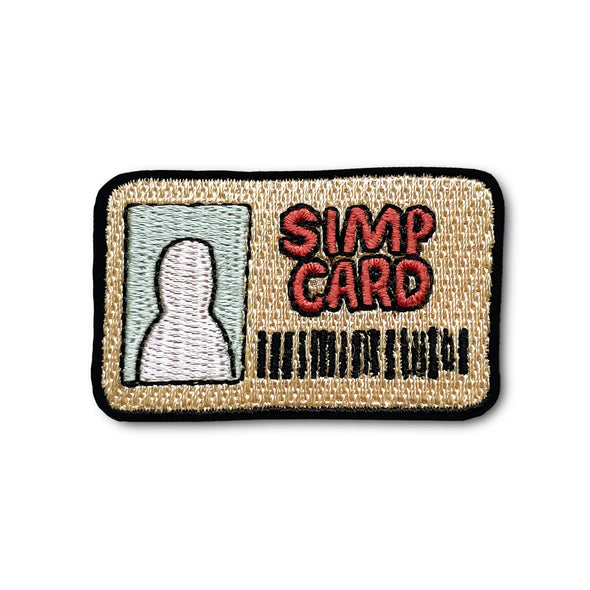 Simp Card Meme Iron On Patch